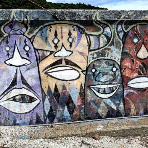 写真:大潟町のウォールアート